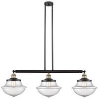 Innovations Lighting 213-BAB-S-G544-LED Large Oxford LED 42 inch Black Antique Brass Island Light Ceiling Light Franklin Restoration
