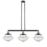 Innovations Lighting 213-BAB-S-G544 Large Oxford 3 Light 42 inch Black Antique Brass Island Light Ceiling Light Franklin Restoration
