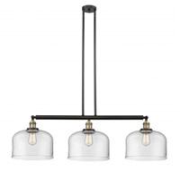 Innovations Lighting 213-BAB-S-G72-L-LED X-Large Bell LED 42 inch Black Antique Brass Island Light Ceiling Light Franklin Restoration
