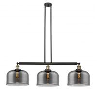 Innovations Lighting 213-BAB-S-G73-L-LED X-Large Bell LED 42 inch Black Antique Brass Island Light Ceiling Light Franklin Restoration