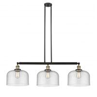 Innovations Lighting 213-BAB-S-G74-L-LED X-Large Bell LED 42 inch Black Antique Brass Island Light Ceiling Light Franklin Restoration