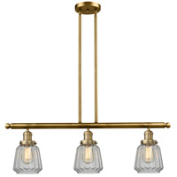 Chatham 3 Light 36 inch Brushed Brass Island Light Ceiling Light