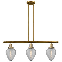 Geneseo 3 Light 36 inch Brushed Brass Island Light Ceiling Light