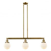 Innovations Lighting 213-BB-G201-6-LED Beacon LED 39 inch Brushed Brass Island Light Ceiling Light Franklin Restoration