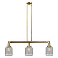 Innovations Lighting 213-BB-G262 Stanton 3 Light 39 inch Brushed Brass Island Light Ceiling Light Franklin Restoration