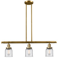 Signature 3 Light 36 inch Brushed Brass Island Light Ceiling Light, Small, Bell