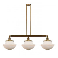 Innovations Lighting 213-BB-G541 Large Oxford 3 Light 42 inch Brushed Brass Island Light Ceiling Light Franklin Restoration