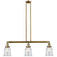Innovations Lighting 213-BB-S-G182-LED Canton LED 39 inch Brushed Brass Island Light Ceiling Light, Adjustable