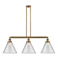 Innovations Lighting 213-BB-S-G42-L-LED X-Large Cone LED 44 inch Brushed Brass Island Light Ceiling Light Franklin Restoration