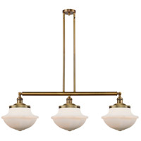 Innovations Lighting 213-BB-S-G541 Large Oxford 3 Light 42 inch Brushed Brass Island Light Ceiling Light Franklin Restoration