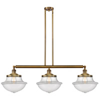 Innovations Lighting 213-BB-S-G542 Large Oxford 3 Light 42 inch Brushed Brass Island Light Ceiling Light Franklin Restoration