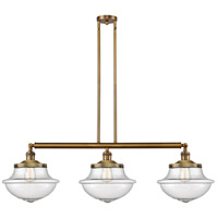 Innovations Lighting 213-BB-S-G544 Large Oxford 3 Light 42 inch Brushed Brass Island Light Ceiling Light Franklin Restoration
