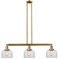 Innovations Lighting 213-BB-S-G72-L X-Large Bell 3 Light 42 inch Brushed Brass Island Light Ceiling Light Franklin Restoration