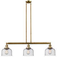Innovations Lighting 213-BB-S-G74-L X-Large Bell 3 Light 42 inch Brushed Brass Island Light Ceiling Light Franklin Restoration