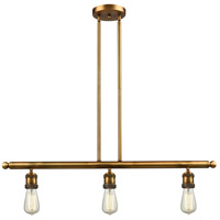 Signature 3 Light 36 inch Brushed Brass Island Light Ceiling Light