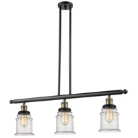 Canton 3 Light 36 inch Black and Brushed Brass Island Light Ceiling Light