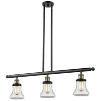 Bellmont 3 Light 36 inch Black and Brushed Brass Island Light Ceiling Light