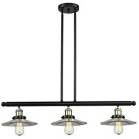 Halophane 3 Light 36 inch Black and Brushed Brass Island Light Ceiling Light