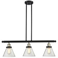 Innovations Lighting 213-BBB-G42 Signature 3 Light 36 inch Black and Brushed Brass Island Light Ceiling Light, Large, Cone photo thumbnail