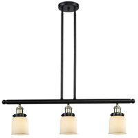 Small Bell 3 Light 36 inch Black and Brushed Brass Island Light Ceiling Light