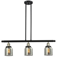 Signature 3 Light 36 inch Black and Brushed Brass Island Light Ceiling Light, Small, Bell