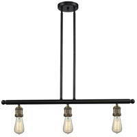 Signature 3 Light 36 inch Black and Brushed Brass Island Light Ceiling Light