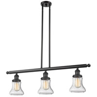 Innovations Lighting 213-BK-G1 Halophane 3 Light 41 inch Matte Black Island Light Ceiling Light Franklin Restoration