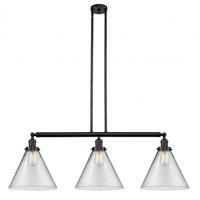 Innovations Lighting 213-BK-G42-L-LED X-Large Cone LED 44 inch Matte Black Island Light Ceiling Light Franklin Restoration