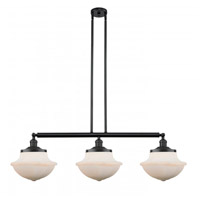 Innovations Lighting 213-BK-G541 Large Oxford 3 Light 42 inch Matte Black Island Light Ceiling Light Franklin Restoration