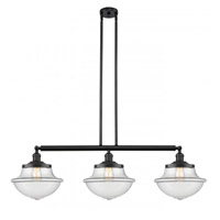 Innovations Lighting 213-BK-G542 Large Oxford 3 Light 42 inch Matte Black Island Light Ceiling Light Franklin Restoration