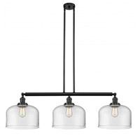 Innovations Lighting 213-BK-G72-L-LED X-Large Bell LED 42 inch Matte Black Island Light Ceiling Light Franklin Restoration
