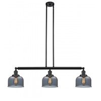 Innovations Lighting 213-BK-G73-LED Large Bell LED 41 inch Matte Black Island Light Ceiling Light Franklin Restoration