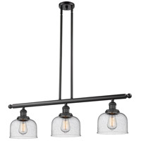 Large Bell 3 Light 36 inch Matte Black Island Light Ceiling Light