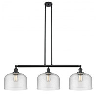 Innovations Lighting 213-BK-G74-L-LED X-Large Bell LED 42 inch Matte Black Island Light Ceiling Light Franklin Restoration