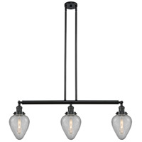 Innovations Lighting 213-BK-S-G165-LED Geneseo LED 38 inch Matte Black Island Light Ceiling Light Franklin Restoration