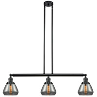 Fulton 3 Light 39 inch Matte Black Island Light Ceiling Light, Adjustable