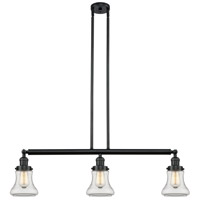 Bellmont 3 Light 39 inch Matte Black Island Light Ceiling Light, Adjustable