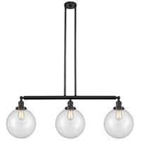 Innovations Lighting 213-BK-S-G202-10 X-Large Beacon 3 Light 42 inch Matte Black Island Light Ceiling Light Franklin Restoration