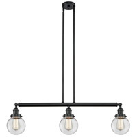 Beacon 3 Light 39 inch Matte Black Island Light Ceiling Light, Adjustable