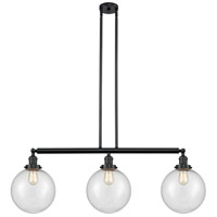 Innovations Lighting 213-BK-S-G204-10 X-Large Beacon 3 Light 42 inch Matte Black Island Light Ceiling Light Franklin Restoration
