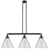 Innovations Lighting 213-BK-S-G42-L-LED X-Large Cone LED 44 inch Matte Black Island Light Ceiling Light Franklin Restoration