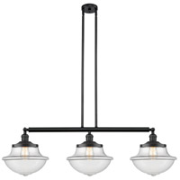 Innovations Lighting 213-BK-S-G542 Large Oxford 3 Light 42 inch Matte Black Island Light Ceiling Light Franklin Restoration