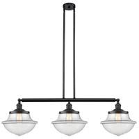 Innovations Lighting 213-BK-S-G542-LED Large Oxford LED 42 inch Matte Black Island Light Ceiling Light Franklin Restoration
