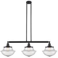 Innovations Lighting 213-BK-S-G544-LED Large Oxford LED 42 inch Matte Black Island Light Ceiling Light Franklin Restoration