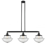 Innovations Lighting 213-BK-S-G544 Large Oxford 3 Light 42 inch Matte Black Island Light Ceiling Light Franklin Restoration