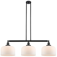 Innovations Lighting 213-BK-S-G71-L X-Large Bell 3 Light 42 inch Matte Black Island Light Ceiling Light Franklin Restoration