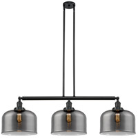 Innovations Lighting 213-BK-S-G73-L X-Large Bell 3 Light 42 inch Matte Black Island Light Ceiling Light Franklin Restoration