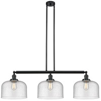 Innovations Lighting 213-BK-S-G74-L X-Large Bell 3 Light 42 inch Matte Black Island Light Ceiling Light Franklin Restoration