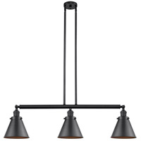 Innovations Lighting 213-BK-S-M13-BK Appalachian 3 Light 40 inch Matte Black Island Light Ceiling Light Franklin Restoration