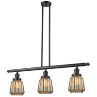 Chatham 3 Light 36 inch Oiled Rubbed Bronze Island Light Ceiling Light